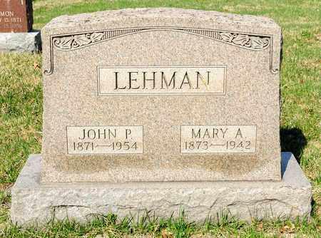 LEHMAN, MARY A - Wayne County, Ohio | MARY A LEHMAN - Ohio Gravestone Photos