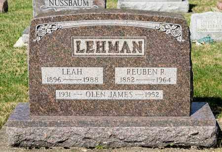 LEHMAN, REUBEN R - Wayne County, Ohio | REUBEN R LEHMAN - Ohio Gravestone Photos