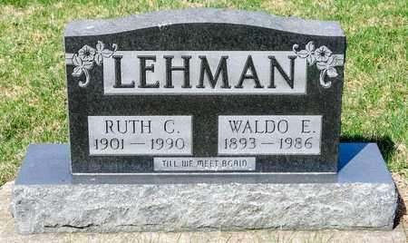 LEHMAN, WALDO E - Wayne County, Ohio | WALDO E LEHMAN - Ohio Gravestone Photos