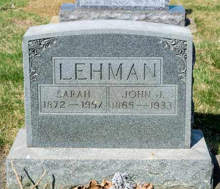 LEHMAN, SARAH - Wayne County, Ohio | SARAH LEHMAN - Ohio Gravestone Photos