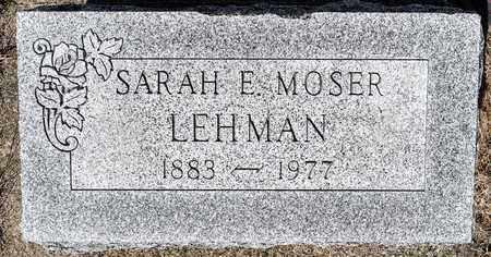 LEHMAN, SARAH E - Wayne County, Ohio   SARAH E LEHMAN - Ohio Gravestone Photos