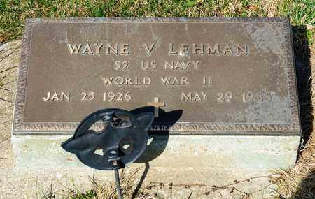 LEHMAN, WAYNE V - Wayne County, Ohio   WAYNE V LEHMAN - Ohio Gravestone Photos