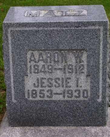 FRAZER MATZ, JESSIE I. - Wayne County, Ohio | JESSIE I. FRAZER MATZ - Ohio Gravestone Photos