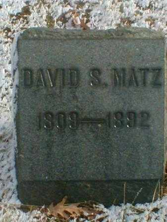 MATZ, DAVID S. - Wayne County, Ohio | DAVID S. MATZ - Ohio Gravestone Photos