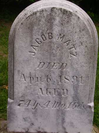 MATZ, JACOB - Wayne County, Ohio | JACOB MATZ - Ohio Gravestone Photos