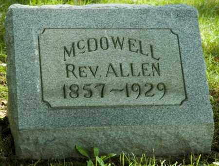 MCDOWELL, ALLEN - Wayne County, Ohio   ALLEN MCDOWELL - Ohio Gravestone Photos