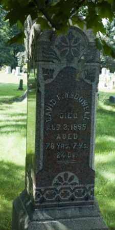 MCDOWELL, DAVID F. - Wayne County, Ohio   DAVID F. MCDOWELL - Ohio Gravestone Photos