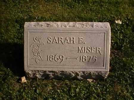 MISER, SARAH E. - Wayne County, Ohio   SARAH E. MISER - Ohio Gravestone Photos