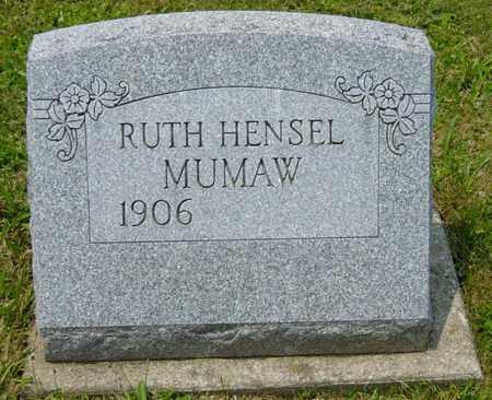 HENSEL MUMAW, RUTH - Wayne County, Ohio   RUTH HENSEL MUMAW - Ohio Gravestone Photos
