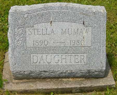 MUMAW, STELLA - Wayne County, Ohio   STELLA MUMAW - Ohio Gravestone Photos