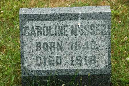 MUSSER, CAROLINE - Wayne County, Ohio | CAROLINE MUSSER - Ohio Gravestone Photos