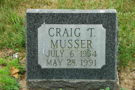 MUSSER, CRAIG T. - Wayne County, Ohio | CRAIG T. MUSSER - Ohio Gravestone Photos
