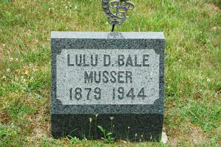 MUSSER, LULU D. - Wayne County, Ohio | LULU D. MUSSER - Ohio Gravestone Photos