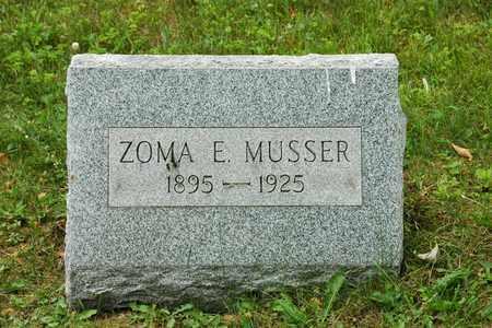 MUSSER, ZOMA E. - Wayne County, Ohio | ZOMA E. MUSSER - Ohio Gravestone Photos