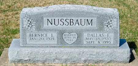 NUSSBAUM, DALLAS E - Wayne County, Ohio | DALLAS E NUSSBAUM - Ohio Gravestone Photos