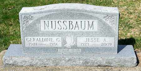 NUSSBAUM, JESSE A - Wayne County, Ohio | JESSE A NUSSBAUM - Ohio Gravestone Photos