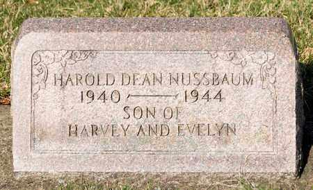 NUSSBAUM, HAROLD DEAN - Wayne County, Ohio   HAROLD DEAN NUSSBAUM - Ohio Gravestone Photos