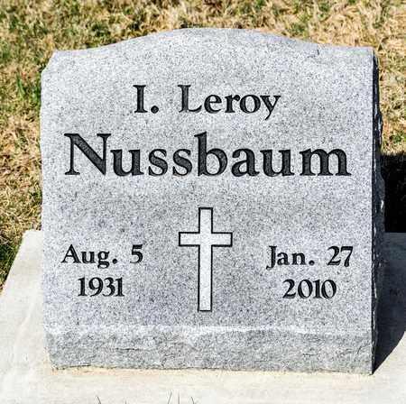 NUSSBAUM, I LEROY - Wayne County, Ohio   I LEROY NUSSBAUM - Ohio Gravestone Photos