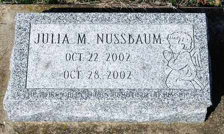 NUSSBAUM, JULIA M - Wayne County, Ohio | JULIA M NUSSBAUM - Ohio Gravestone Photos