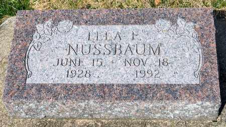 NUSSBAUM, LELA F - Wayne County, Ohio | LELA F NUSSBAUM - Ohio Gravestone Photos