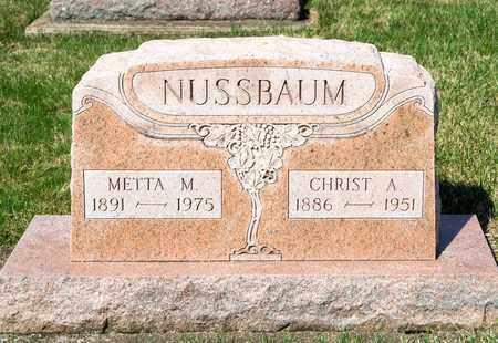 NUSSBAUM, METTA M - Wayne County, Ohio   METTA M NUSSBAUM - Ohio Gravestone Photos