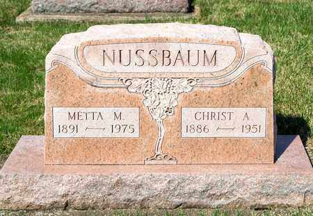 NUSSBAUM, CHRIST A - Wayne County, Ohio | CHRIST A NUSSBAUM - Ohio Gravestone Photos