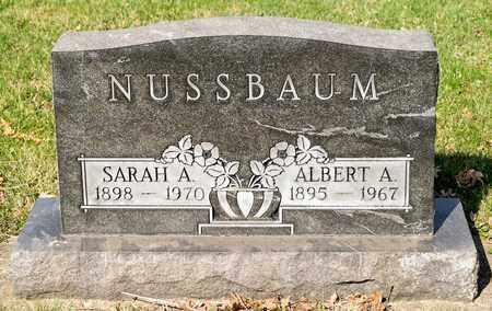 NUSSBAUM, SARAH A - Wayne County, Ohio | SARAH A NUSSBAUM - Ohio Gravestone Photos