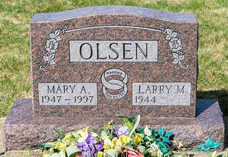 OLSEN, MARY A - Wayne County, Ohio | MARY A OLSEN - Ohio Gravestone Photos