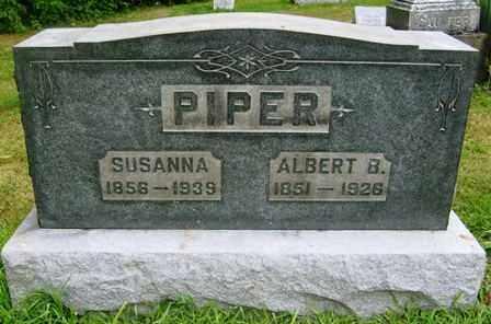 PIPER, SUSANNA - Wayne County, Ohio | SUSANNA PIPER - Ohio Gravestone Photos
