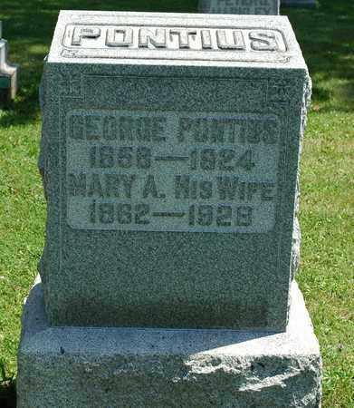 PONTIUS, MARY A. - Wayne County, Ohio | MARY A. PONTIUS - Ohio Gravestone Photos
