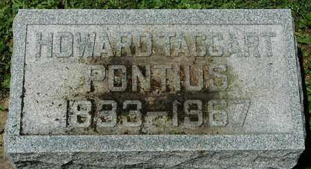 PONTIUS, HOWARD TAGGART - Wayne County, Ohio | HOWARD TAGGART PONTIUS - Ohio Gravestone Photos