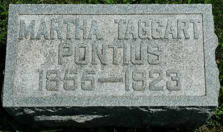 TAGGART PONTIUS, MARTHA - Wayne County, Ohio | MARTHA TAGGART PONTIUS - Ohio Gravestone Photos