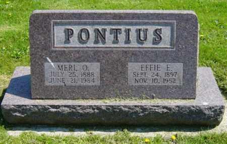 PONTIUS, EFFIE E. - Wayne County, Ohio | EFFIE E. PONTIUS - Ohio Gravestone Photos