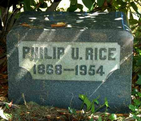 RICE, PHILIP U. - Wayne County, Ohio | PHILIP U. RICE - Ohio Gravestone Photos