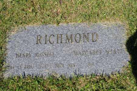 RICHMOND, HENRY RUSSELL - Wayne County, Ohio | HENRY RUSSELL RICHMOND - Ohio Gravestone Photos