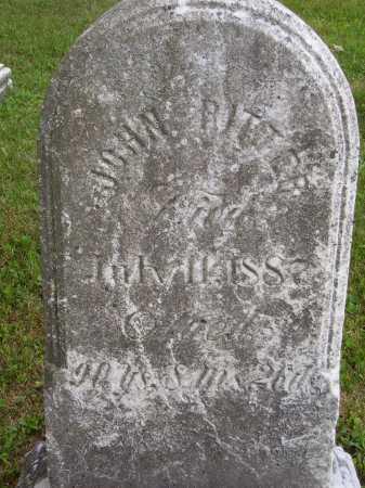 RITTER, JOHN - Wayne County, Ohio | JOHN RITTER - Ohio Gravestone Photos
