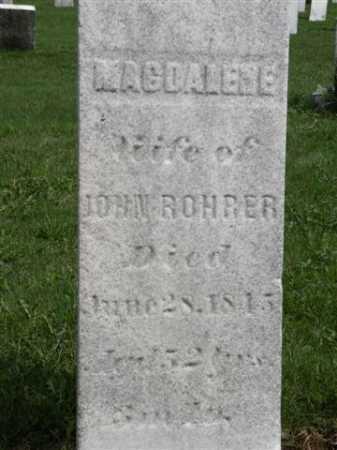 ROHRER, MAGDALENE - Wayne County, Ohio | MAGDALENE ROHRER - Ohio Gravestone Photos
