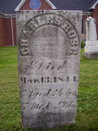 ROSE, CHARLES - Wayne County, Ohio | CHARLES ROSE - Ohio Gravestone Photos