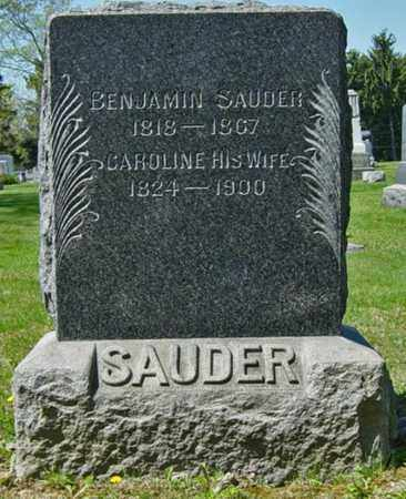 SAUDER, BENJAMIN - Wayne County, Ohio | BENJAMIN SAUDER - Ohio Gravestone Photos