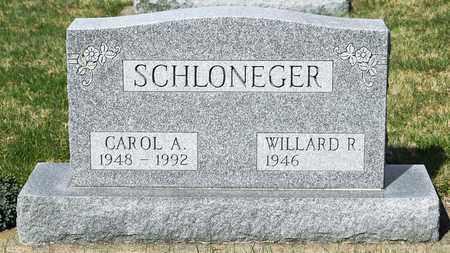 SCHLONEGER, CAROL A - Wayne County, Ohio | CAROL A SCHLONEGER - Ohio Gravestone Photos