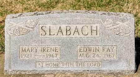 SLABACH, EDWIN RAY - Wayne County, Ohio | EDWIN RAY SLABACH - Ohio Gravestone Photos