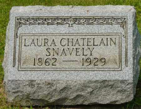 CHATELAIN SNAVELY, LAURA - Wayne County, Ohio | LAURA CHATELAIN SNAVELY - Ohio Gravestone Photos