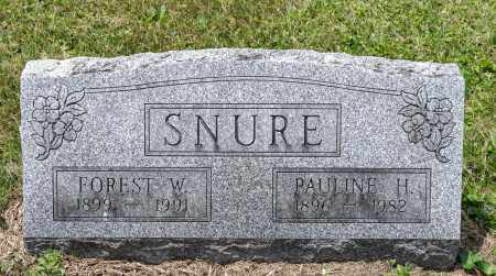 SNURE, FOREST W. - Wayne County, Ohio | FOREST W. SNURE - Ohio Gravestone Photos