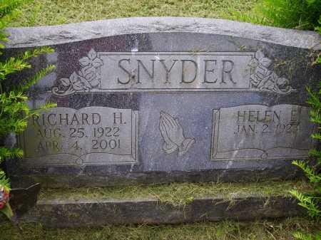 SNYDER, RICHARD H. - Wayne County, Ohio | RICHARD H. SNYDER - Ohio Gravestone Photos