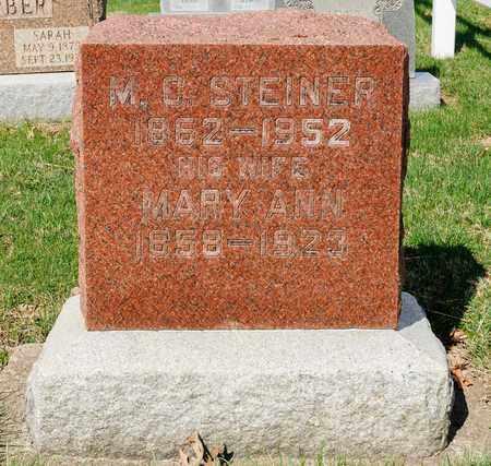 STEINER, MARY ANN - Wayne County, Ohio | MARY ANN STEINER - Ohio Gravestone Photos