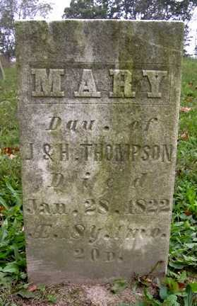 THOMPSON, MARY - Wayne County, Ohio   MARY THOMPSON - Ohio Gravestone Photos