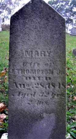 THOMPSON, MARY - Wayne County, Ohio | MARY THOMPSON - Ohio Gravestone Photos