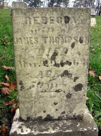 THOMPSON, REBECCA - Wayne County, Ohio | REBECCA THOMPSON - Ohio Gravestone Photos