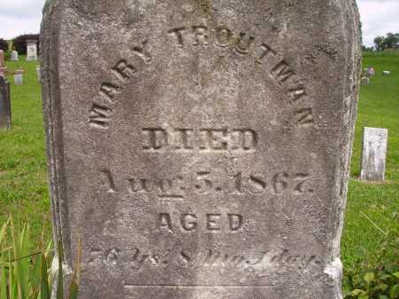 EMRICH TROUTMAN, MARY - Wayne County, Ohio | MARY EMRICH TROUTMAN - Ohio Gravestone Photos