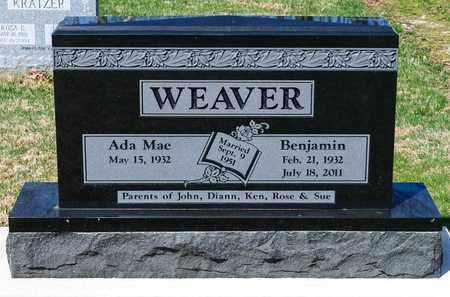 WEAVER, BENJAMIN - Wayne County, Ohio   BENJAMIN WEAVER - Ohio Gravestone Photos